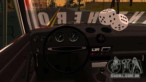 VAZ 2106 BQ para GTA San Andreas vista traseira