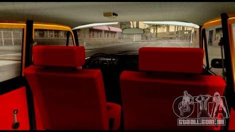 Moskvich 412-028 para GTA San Andreas vista traseira
