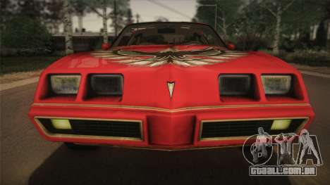 Pontiac Turbo Trans Am 1980 Bandit Edition para GTA San Andreas vista traseira