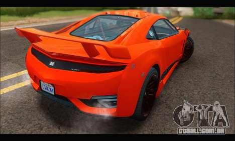 Dinka Jester Racecar (GTA V) para GTA San Andreas vista direita