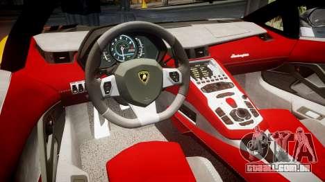 Lamborghini Aventador 2012 [EPM] Hankook Orange para GTA 4 vista interior
