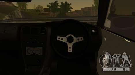 Toyota Mark 2 Sport para GTA San Andreas traseira esquerda vista