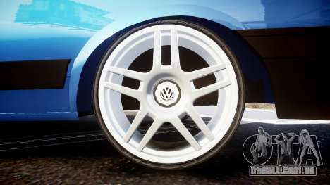 Volkswagen Voyage 1990 para GTA 4 vista de volta