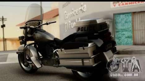Police Bike GTA 5 para GTA San Andreas esquerda vista