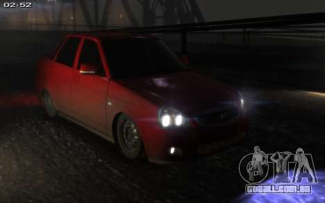 Lada 2170 Priora para GTA 4 vista interior