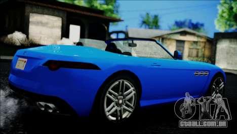 Benefactor Surano IVF para GTA San Andreas traseira esquerda vista