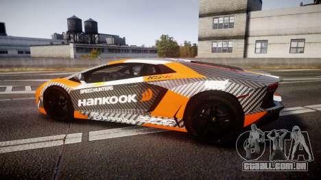 Lamborghini Aventador 2012 [EPM] Hankook Orange para GTA 4 esquerda vista