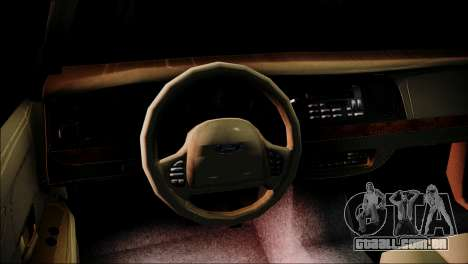 Ford Crown Victoria Stance Nation para GTA San Andreas traseira esquerda vista