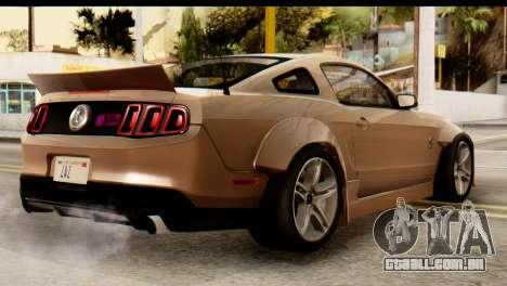 Ford Shelby GT500 RocketBunny para GTA San Andreas esquerda vista
