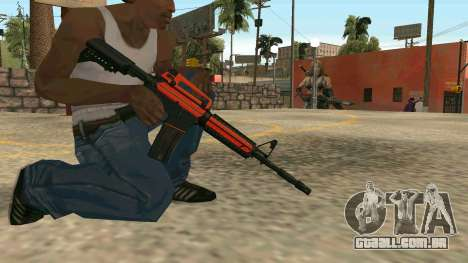 Orange M4A1 para GTA San Andreas sexta tela