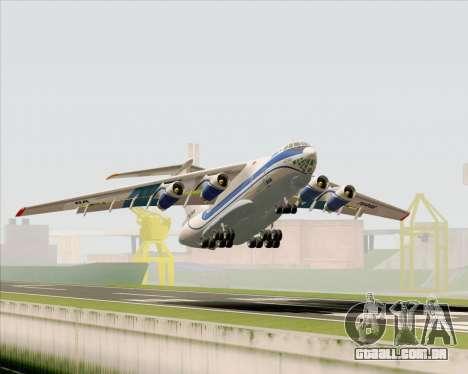IL-76TD Gazprom Avia para as rodas de GTA San Andreas