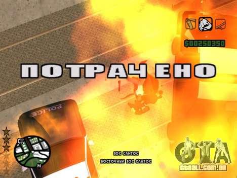 Confortável C-HUD para GTA San Andreas terceira tela
