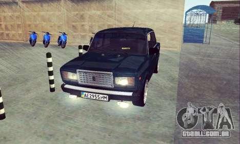 VAZ 2107 Sete-ty para GTA San Andreas