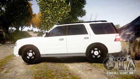Ford Expedition West Virginia State Police [ELS] para GTA 4 esquerda vista