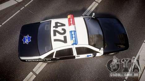 Chevrolet Caprice 1990 LCPD [ELS] Patrol para GTA 4 vista direita