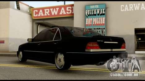 Mercedes-Benz W140 para GTA San Andreas esquerda vista
