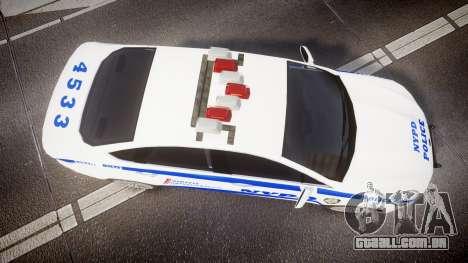 Ford Fusion 2014 NYPD [ELS] para GTA 4 vista direita