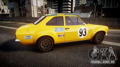 Ford Escort RS1600 PJ93 para GTA 4 esquerda vista