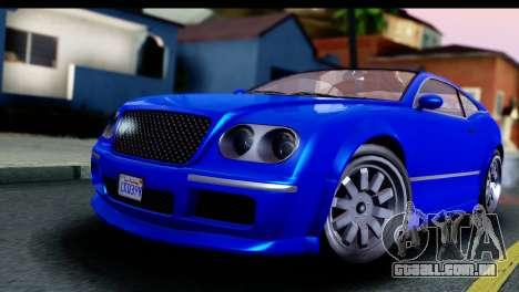 GTA 5 Enus Cognoscenti Cabrio para GTA San Andreas vista direita