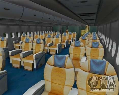 Airbus A380-800 F-WWDD Not Painted para GTA San Andreas vista interior