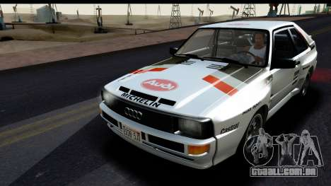 Audi Sport Quattro B2 (Typ 85Q) 1983 [HQLM] para GTA San Andreas vista interior