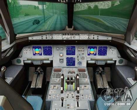 Airbus A321-200 Royal New Zealand Air Force para vista lateral GTA San Andreas