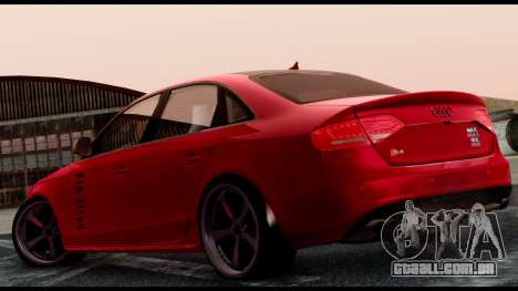Audi S4 2010 Blacktop para GTA San Andreas esquerda vista