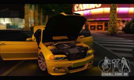 BMW M3 Coupe Tuned para GTA San Andreas vista traseira