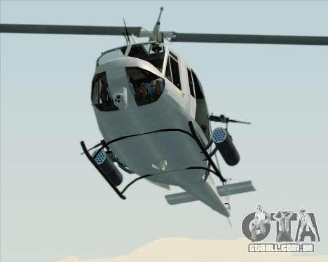 Bell UH-1N Huey USMC para GTA San Andreas vista interior