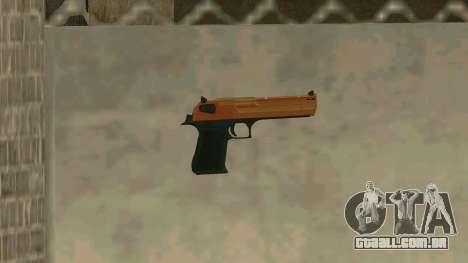 Orange Desert Eagle para GTA San Andreas
