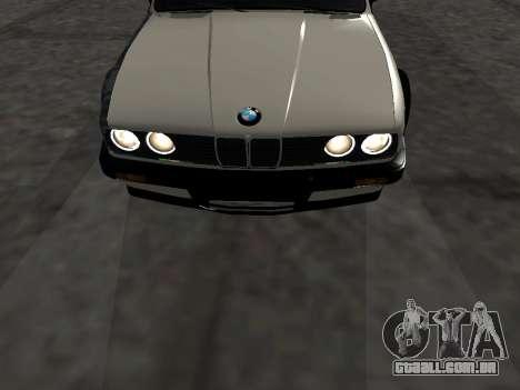 BMW M3 E30 Drift para GTA San Andreas vista interior