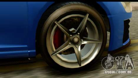 GTA 5 Obey 9F Coupe IVF para GTA San Andreas vista traseira