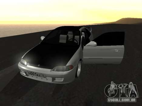 Honda Civic para vista lateral GTA San Andreas