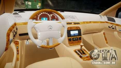 Mercedes-Benz S600 W220 para GTA 4 vista lateral