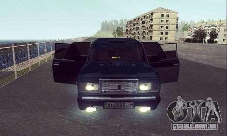 VAZ 2107 Sete-ty para GTA San Andreas vista direita
