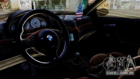 BMW M3 E46 Sport PG para GTA San Andreas traseira esquerda vista