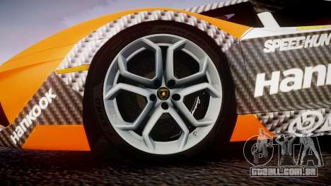 Lamborghini Aventador 2012 [EPM] Hankook Orange para GTA 4 vista de volta
