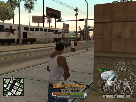 C-HUD для Exército para GTA San Andreas terceira tela