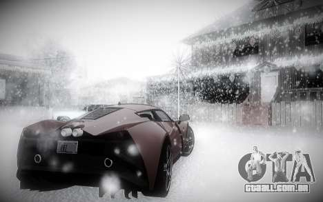 Inverno 2.0 ENBSeries para GTA San Andreas por diante tela