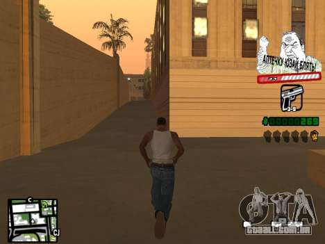 C-HUD for Ghetto para GTA San Andreas segunda tela