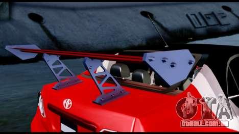 Toyota Corolla 2012 LOJACK Racing para GTA San Andreas vista traseira