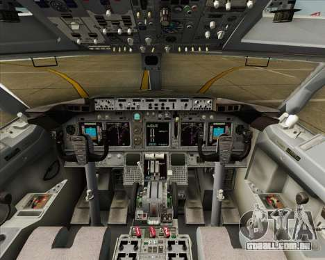 Boeing 737-800 LOT Polish Airlines para vista lateral GTA San Andreas