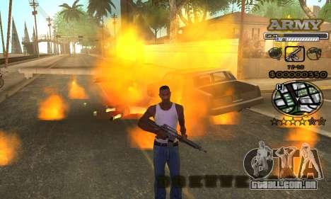 C-HUD Army para GTA San Andreas sexta tela