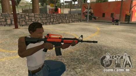Orange M4A1 para GTA San Andreas quinto tela