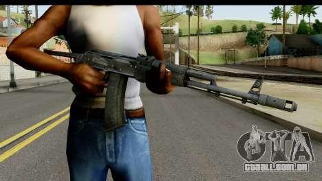 Plástico AKS-74 para GTA San Andreas terceira tela