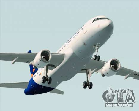 Airbus A320-200 Brussels Airlines para GTA San Andreas vista superior