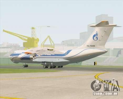 IL-76TD Gazprom Avia para GTA San Andreas vista direita