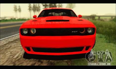 Dodge Challenger SRT HELLCAT 2015 para GTA San Andreas esquerda vista