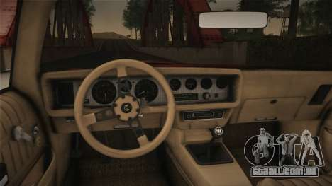 Pontiac Turbo Trans Am 1980 Bandit Edition para GTA San Andreas vista direita