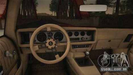 Pontiac Turbo Trans Am 1980 Bandit Edition para GTA San Andreas vista direita